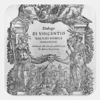 page of 'Della Musica Antica et della Moderna' Square Sticker