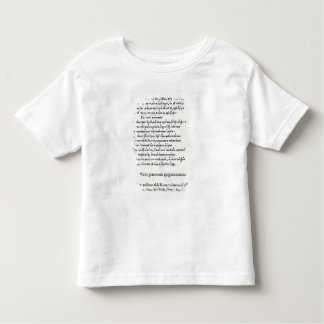 Page of Greek Epigrams by Angelo Poliziano, 1498 Toddler T-shirt