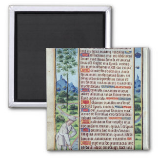 Page of Latin text with border 2 Inch Square Magnet