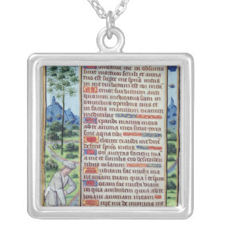 Page of Latin text with border Custom Necklace