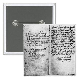 Page of manuscript pinback button