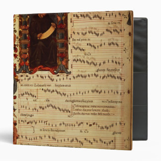 Page of Musical Notation with historiated 3 Ring Binder