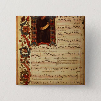 Page of Musical Notation with historiated Button