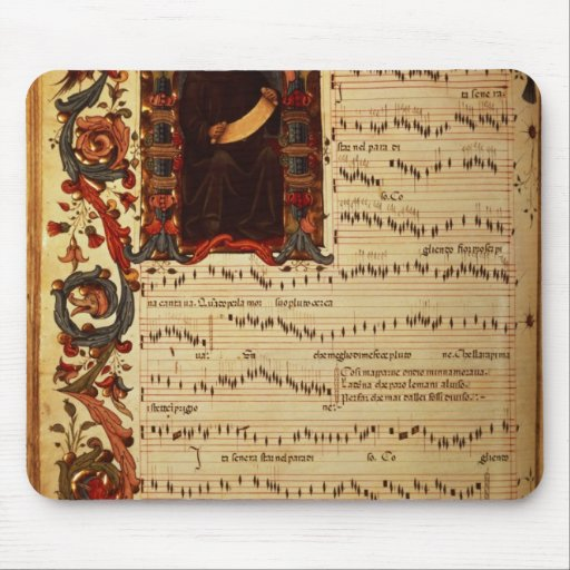 Page of Musical Notation with historiated Mousepad