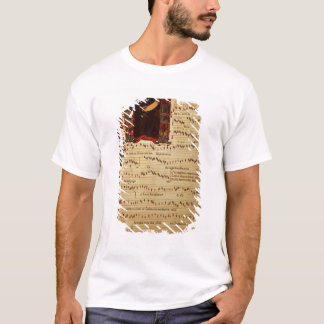 Page of Musical Notation with historiated T-Shirt