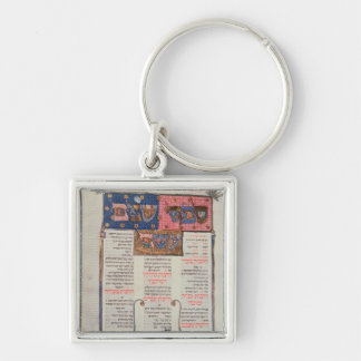 Page of text and illustration keychain