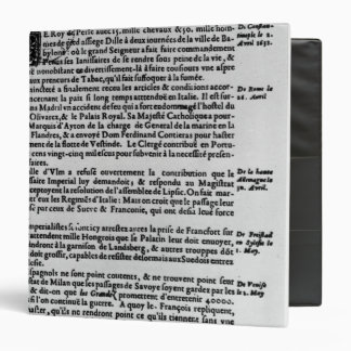 Page of text from 'La Gazette' Binder