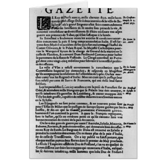 Page of text from 'La Gazette' Card