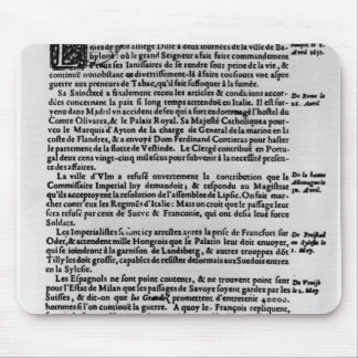 Page of text from 'La Gazette' Mouse Pad