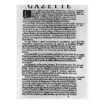 Page of text from 'La Gazette' Postcard