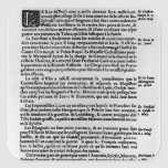 Page of text from 'La Gazette' Square Sticker
