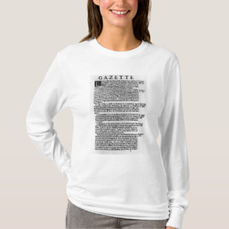 Page of text from 'La Gazette' T-Shirt
