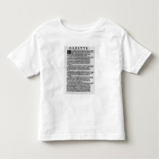 Page of text from 'La Gazette' Toddler T-shirt