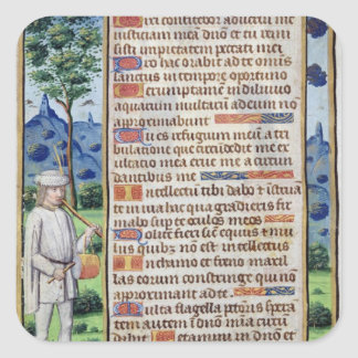 Page of text with a border detail of a square sticker