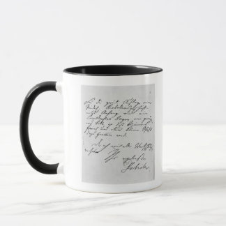 Page of text with his signature mug