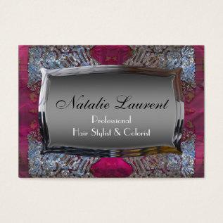 Page Slayfier Elegance  Salon Professional Business Card at Zazzle