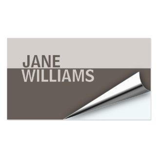 Page Turn Designer Business Card (iron brown)