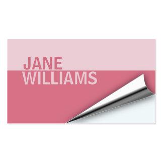 Page Turn Designer Business Card (rapture rose)