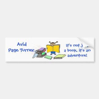 page turner bumper sticker