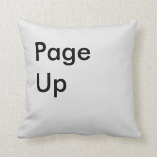 Page Up Button Pillow