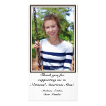 Pageant Advertising Thank You Card Photo Card