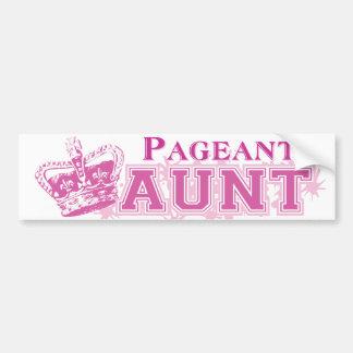 Pageant Aunt Bumper Sticker