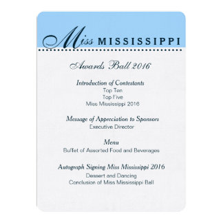 Pageant invitations announcements zazzle pageant awards ball program yadclub Gallery