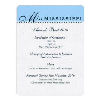 Pageant Awards Ball Program Card