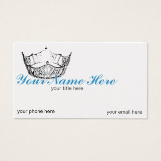 Pageant Crown Litho Customize Business Cards