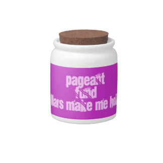 pageant fund jar candy dish