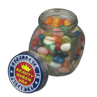 Pageant Glass Candy Jars