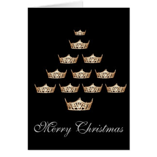 Pageant Miss America Type Crown Christmas Card