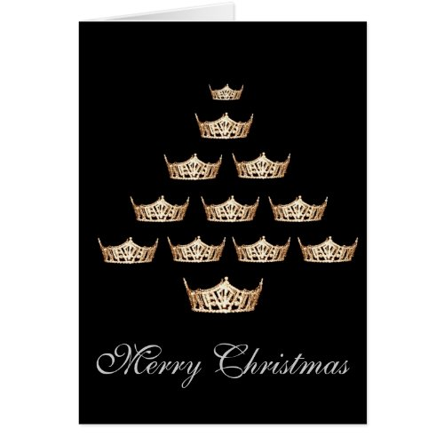 Pageant Miss America Type Crown Christmas Card Sales 315