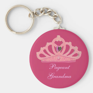 Pageant  Mom or Grandma Pink Crown Tiara Keychain