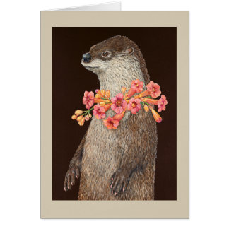 Pageant Otter greeting card