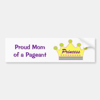 Pageant Princess Car Bumper Sticker