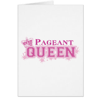 Pageant Queen Greeting Card