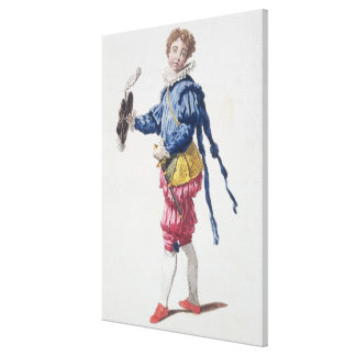 Pageboy at Court during the Reign of Edward VI (en Canvas Print