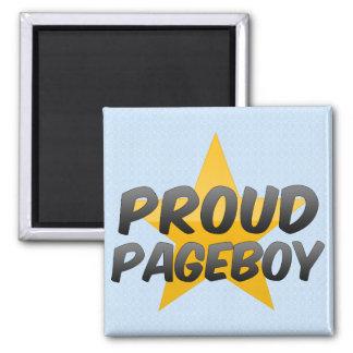 Pageboy orgulloso iman de frigorífico