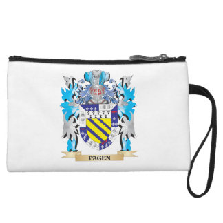 Pagen Coat of Arms - Family Crest Wristlet Clutches