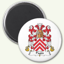 Pages Family Crest Magnet