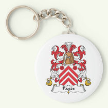 Pages Family Crest Keychain