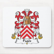 Pages Family Crest Mousepad