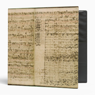 Pages from Score of the 'The Art of the Fugue' 3 Ring Binder