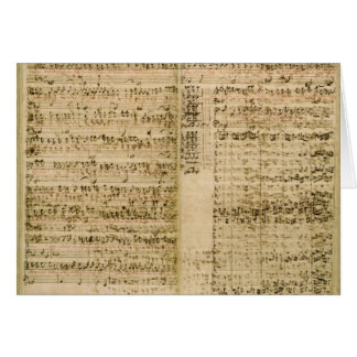 Pages from Score of the 'The Art of the Fugue' Greeting Card