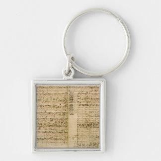 Pages from Score of the 'The Art of the Fugue' Keychain