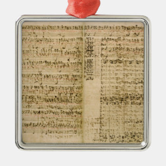 Pages from Score of the 'The Art of the Fugue' Metal Ornament