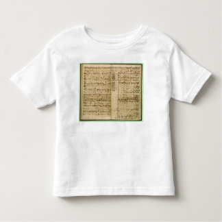 Pages from Score of the 'The Art of the Fugue' Toddler T-shirt