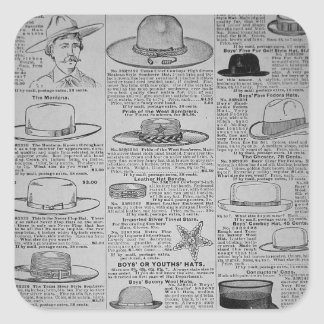 Pages from Sears, Roebuck of Chicago, catalogue of Square Sticker