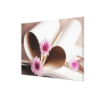 Pages of a Book Made into a Heart Shape Canvas Print
